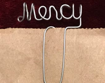 Mercy Wire Bookmark Paperclip