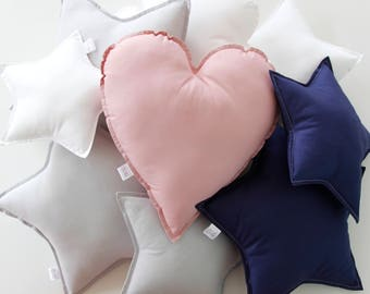Love Heart Cushion, Heart Cushion, Nursery Cushion, Kids Bedroom Cushion, Nursery Pillow, Kids Pillow