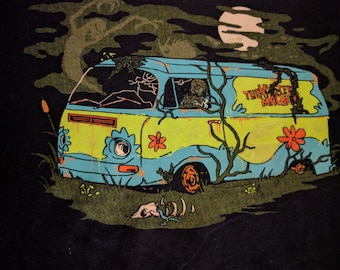 Scooby Doo Mystery Machine Navy Blue Baby Tee Size XL