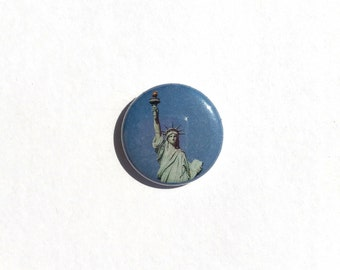 Statue of Liberty 1 inch pinback button - American Button
