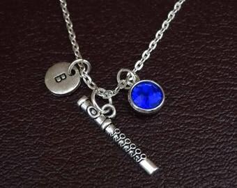 Flute Necklace, Flute Charm, Flute Pendant, Flute Jewelry, Flute Instrument, Flute Gifts, Flute Player, Flutist Necklace, Flutist Jewelry