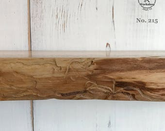 "42"" Live Edge Maple Floating Shelf with Textured Face (Shelf No. 215)"