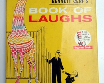 Bennett Cerf's Book of Laughs by Bennett Cerf , 1959 Hardcover with Original Dust Jacket, Very Good Condition, No Marks
