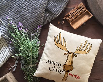 Merry Christmoose pillow - cover only