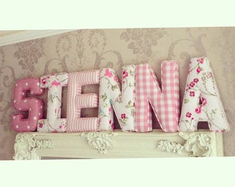 Marvelous Fabric Letters, Personalised, Initial, Name, Baby Room, Nursery, Baby Gift Good Looking