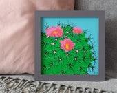 Cactus Screenprint - Square Print - Plant Print - Botanical Plants - Tropical Decor - Crazy Plant Lady - Plant Lovers Gift - Indoor Plants