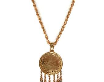 Coin Necklace, Gold Coin Necklace, Vintage Coin Necklace, Shaker Necklaces, Gold Layering Necklace, Gold Necklaces, Coin Necklaces, Coins