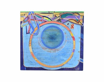 """1991 Abstract Oil Painting """"Vessel of Light #91"""" Martin Facey California Artist"""