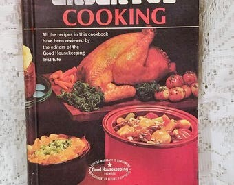 Rival Crock Pot Cooking, Vintage Cookbook, 1975, Classic Slow Cooker Recipes, Hardcover