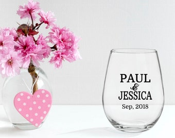 DIY Personalized Vinyl Decal for Wine Glass- Perfect for  Wedding Party