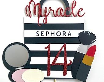 Make-up Themed Cake Topper