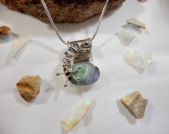 9.7ct Precious Australian Boulder Opal pendant