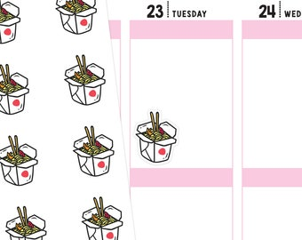 Chinese Takeout Planner Stickers, Food Stickers