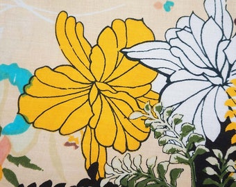 """Indian Cotton Fabric, Beige Fabric, Floral Print, Decor Fabric, Sewing Crafts, 44"""" Inch Quilting Fabric By The Yard ZBC7878D"""