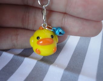 Cute Bright Baby Chick Polymer Clay Charm Accessory