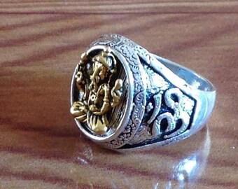 Ethnic Elephant God Ganesh Ring