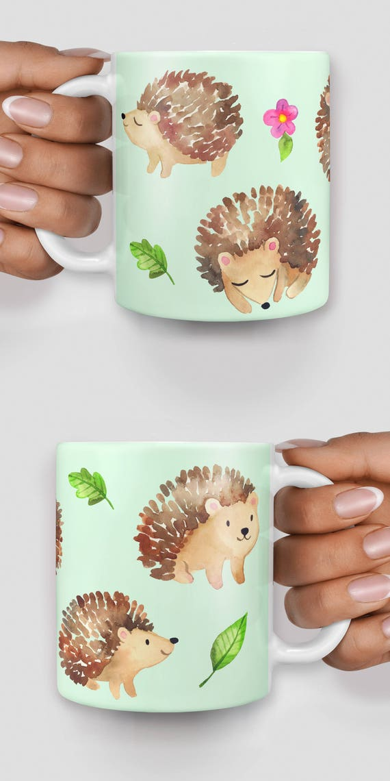 Cute hedgehogs everywhere mug - Christmas mug - Funny mug - Rude mug - Mug cup 4P106