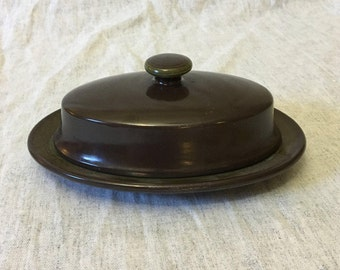 Vintage Franciscan Madeira Covered Butter Dish, Mid Century Dishes