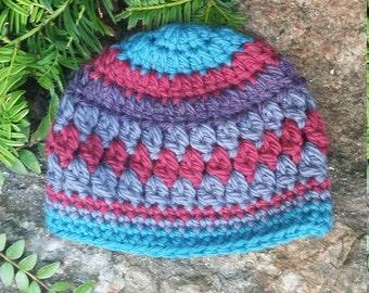 Handmade Baby Hat, Knitted Hat, Baby Beanie Hat, Hand Crochet Beanie, Baby Clothing, Baby Beanie, Woolly Hat, Winter Hat, Babies Winter Hat
