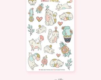 Decorative Planner Stickers | Purr-Fect