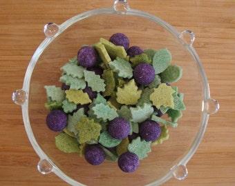 110 Cute tea sugar cubes , leaf and berry sugar cubes  tea party favors, bridal shower  baby shower favors tea sugar, valentine's day,  gift