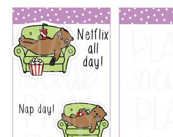 Nap Day Stickers, Netflix all day Planner Stickers -098