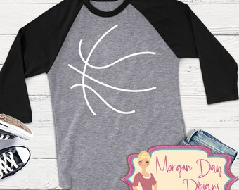 Basketball SVG - Basketball Outline SVG - Files for Silhouette Studio/Cricut Design Space