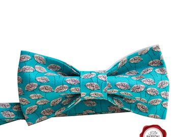 Bow tie / fabric bow tie / bowtie / dandelion bow tie / turquoise bow tie / gift for him / gift for her