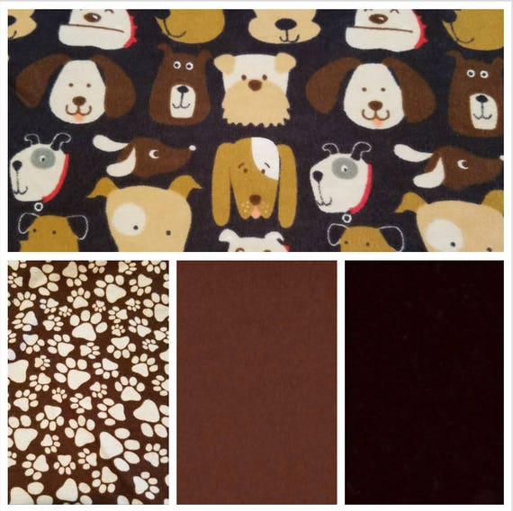 Puppy Dogs, Weighted Blanket, Cotton Flannel, Up to Twin Size, 3 to 20 Pounds, Adult Weighted Blanket, SPD, Autism, Calming Blanket