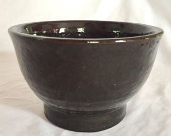 Wheel Thrown Ceramic Black Bowl