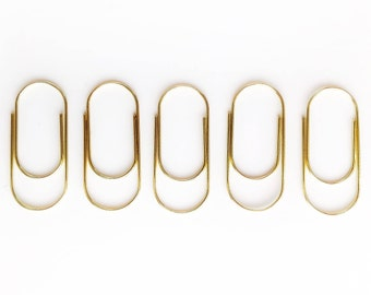 Jumbo Paper Clips - Gold