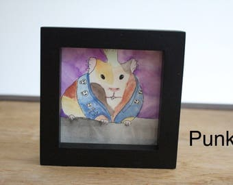 4x4 Framed Watercolor Painting