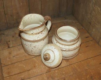 Laurentian Pottery Canada Cream and Sugar Set - 1500