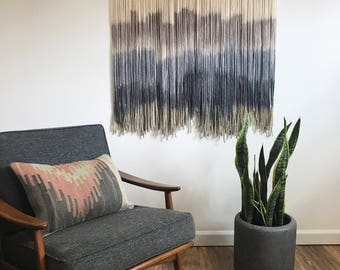 Neutral #1 || Dip Dye Tapestry || Boho Wall Hanging || Ready to Ship Wall Hanging