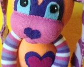 Romp - Sock Bunny Rabbit : Handmade Plush Doll Toy