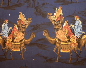 Three Wiseman 100% cotton fabric by VIP.