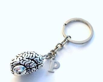 Human Brain KeyChain, Anatomical Brain Keyring, Neuroscience Key Chain, Gift for Neurologist Doctor Keyring Graduation initial man men woman