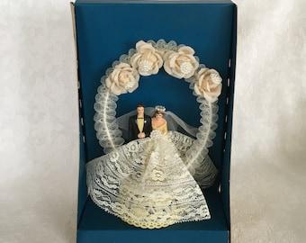 Decor Vintage Wedding Cake Topper Bride and Groom
