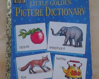 Golden Books ~ Little Golden Picture Dictionary ~ Little Golden Book ~ 1981 ~ Childrens Book ~ Kids Dictionary ~ Seths Vintage Emporium