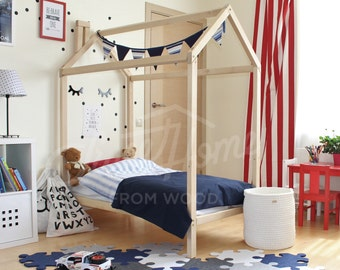 Kids Bedroom House toddler bed house bed frame 160x70 80 90cm baby bed