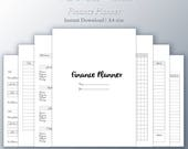 A4 Finance Planner, financial planner, budget planner, bill organizer, budget envelopes