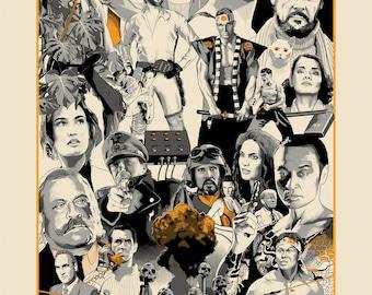 GENREGEDDON - Illustrated Film poster