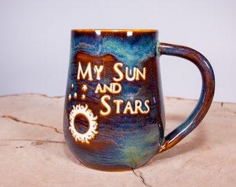 My Sun and Stars Game of Thrones Handmade Pottery Coffee Mug