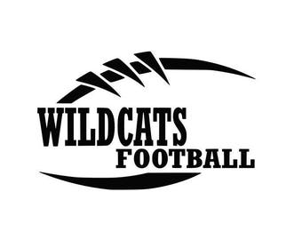 Wildcats Football high school college SVG File Cutting, DXF, EPS design, cutting files for Silhouette Studio and Cricut Design space Sport