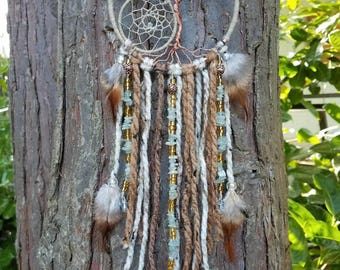 Small Aquamarine Tree of Life Dream Catcher/Wall Hanging