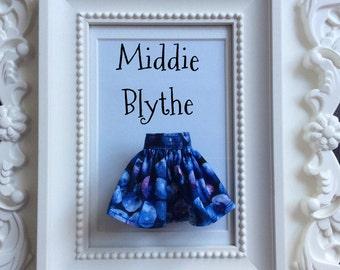 "Skirt for Middie Blythe ""Blueberries"""