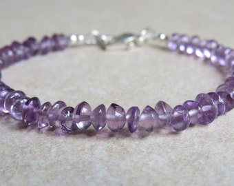 Amethyst Button Bead Bracelet