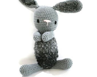 READY TO SHIP, Baby Bunny, crochet bunny, newborn toy, baby boy bunny rabbit, baby girl toy, personalised toy