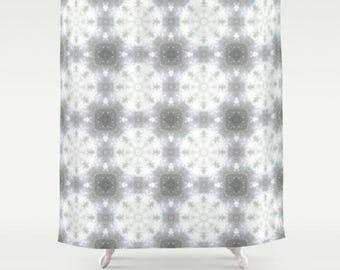 "Unique Mandala Pattern Shower Curtain 71"" x 74"" ~ Bathroom Accessories ~ Modern Home Decor ~ Abstract Art ~ Statement Shower Curtain"