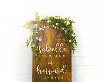 Custom Rustic Wedding Sign, Welcome to the Wedding of, Rustic Wood Wedding Sign, Engagement Gift, Wedding Gift, Modern Home Decor (GP1125)